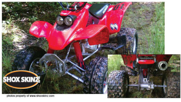 shock covers for quads and atvs