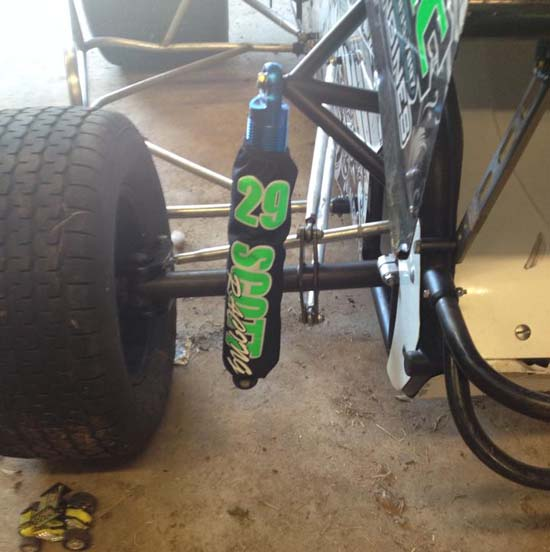 chris scott micro sprint custom shock covers by shox skinz shock covers